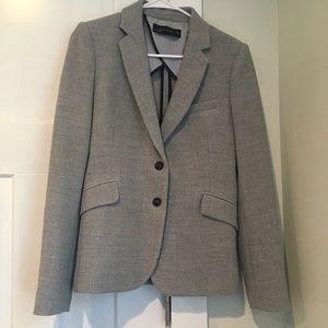 Zara Woman Gray Knit Blazer